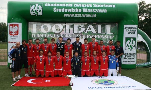 Haliç Üniversitesi Futbolda Avrupa Şampiyonu oldu
