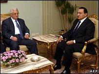 Mahmut Abbas ve Hüsnü Mübarek