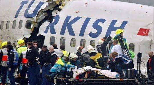THY uçağı Hollanda'da düştü