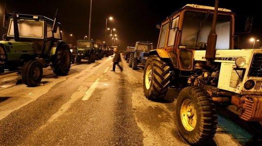 Yunanistan'da çiftçiler ile polis arasında çatışma