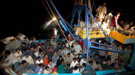 Göçmenlerin kaderi Akdeniz'de . . .