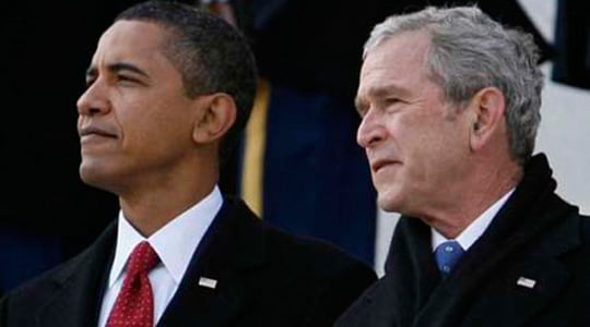 Barack Obama, George Bush