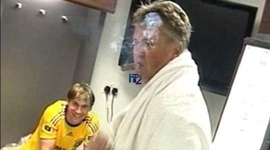 Photo of Guus Hiddink and the kebab restaurants in Germany!