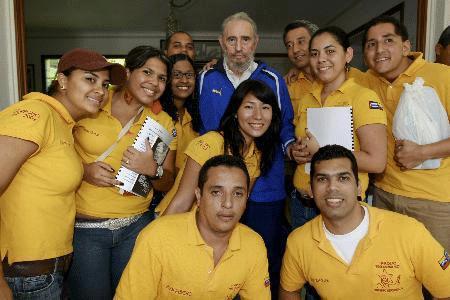 Photo of Fidel Castro Venezuelalı yeni mezun hukukçularla küresel ısınmayı tartıştı
